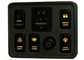 12 VOLT LED AMBER On Off Push Switch Toyota Taa, Tundra, Highlander, FJ cruiser and 4 Runner