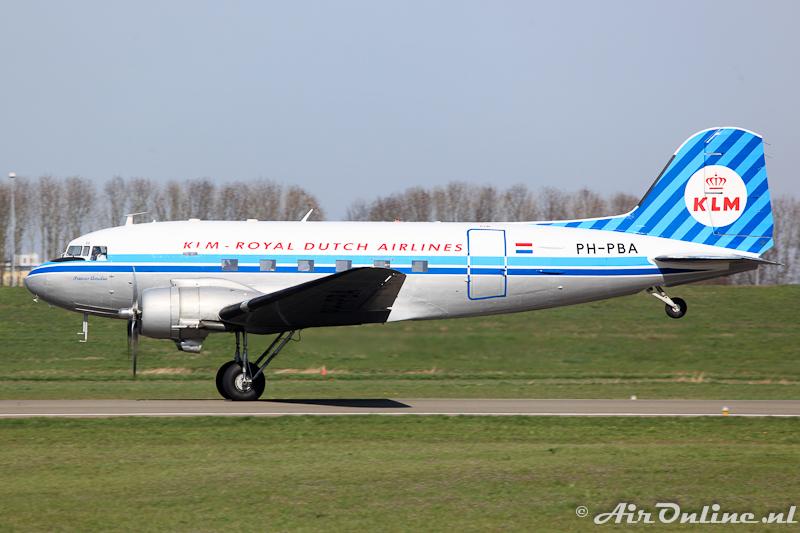 PH-PBA Douglas DC-3C Dakota KLM