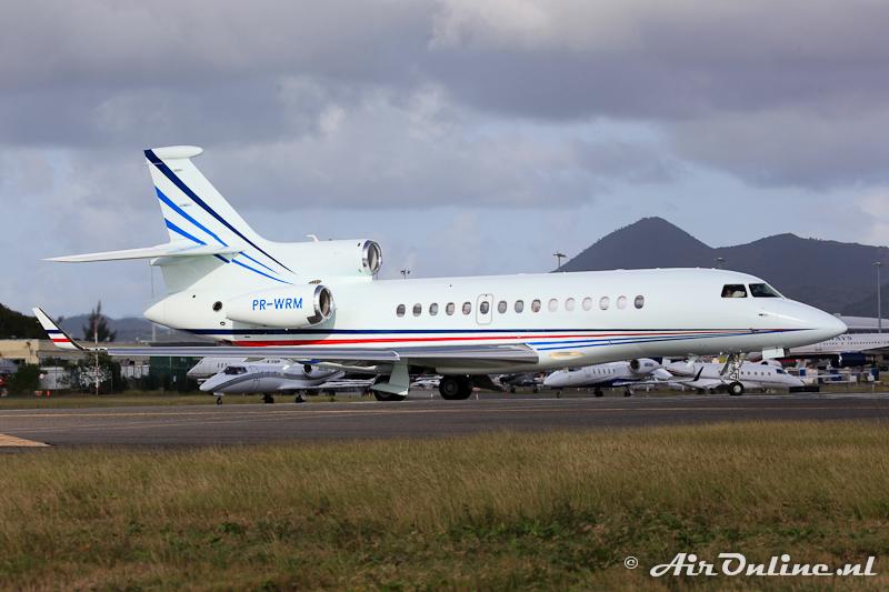PR-WRM Falcon 7X c/n 6 uit Brazilië op Sint Maarten, jan. 2011