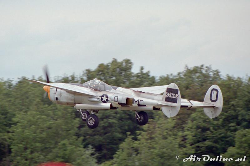 N3145X / 42-67543 Lockheed P-38J Lightning, La Ferte Alais 1992