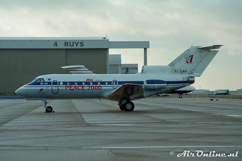 EL-CAR Yak 40 Ales Airlines (Schiphol 30 december 1997)