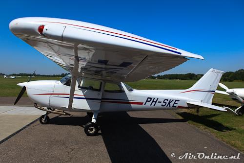 PH-SKE Cessna 172P op Hilversum voor vertrek