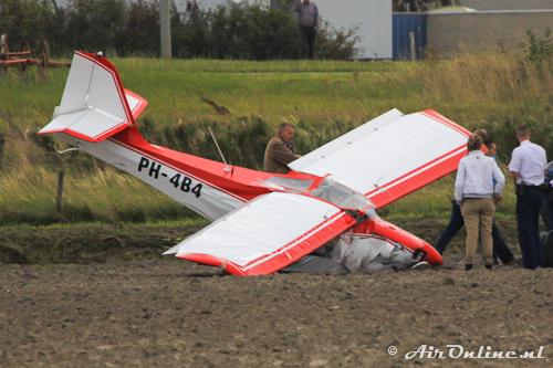 PH-4B4 Aeropro Fox-912 kort na het ongeval bij Den Helder