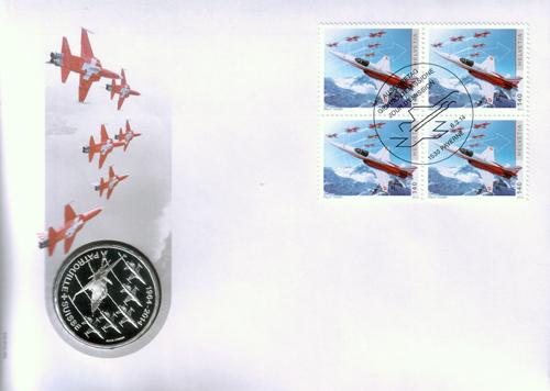 Speciale enveloppe met de herdenkingsmunt van Sfr 20,-