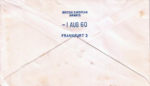 Achterkant van de enveloppe