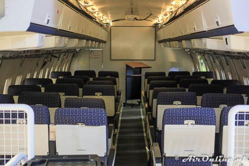 LX-N20199 Boeing 707TCA NATO als leslokaal ingericht