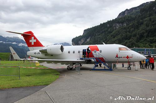 HB-JRA Canadair CL-600-2B16 Challenger 604 van REGA