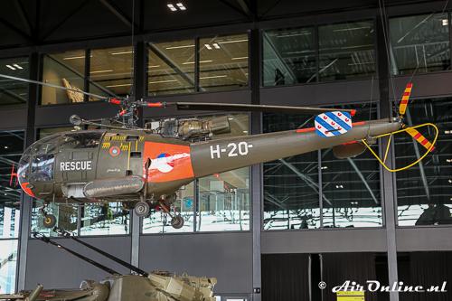 H-20 Sud Aviation SE-3160 Alouette III bewaard in het NMM te Soesterberg