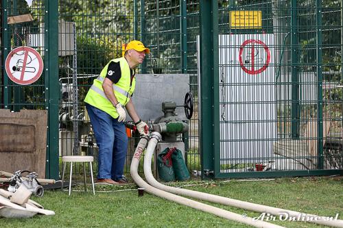 Vaste toevoer voor waterstof op het veld