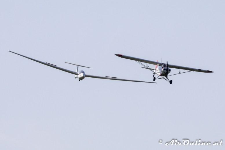 PH-KNE Piper PA-18-135 Super Cub + PH-1469 Schleicher ASK-21
