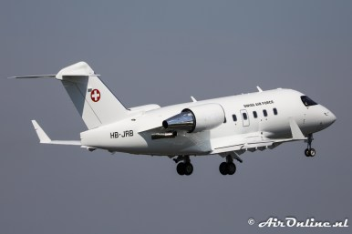 HB-JRB (T-751) Bombardier CL-600-2B16 Challenger 604 Swiss AF