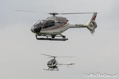 PH-ECE Eurocopter EC 120B Colibri + PH-HBH Hughes 269C