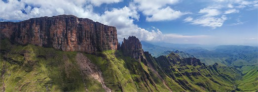 The Drakensberg - Dragon Mountains, South Africa - AirPano.com • 360 Degree Aerial Panorama • 3D Virtual Tours Around the World