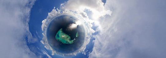 Maldives from the Plane - AirPano.com • 360 Degree Aerial Panorama • 3D Virtual Tours Around the World