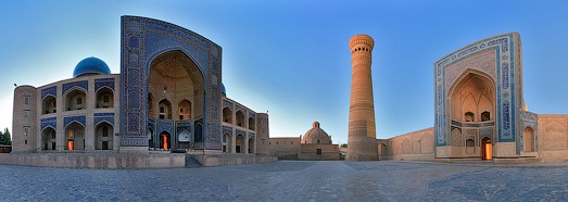 Kalyan Minaret, Bukhara, Uzbekistan - AirPano.com • 360 Degree Aerial Panorama • 3D Virtual Tours Around the World