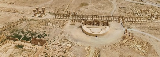 The past appearance of the Syrian Palmyra • AirPano.com • 360° Aerial Panoramas • 360° Virtual Tours Around the World