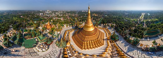 Shwedagon Pagoda, Myanmar - AirPano.com • 360 Degree Aerial Panorama • 3D Virtual Tours Around the World