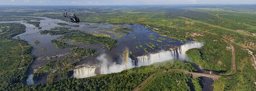 Virtual Tour over Victoria Falls, Zambia - Zimbabwe - AirPano.com • 360 Degree Aerial Panorama • 3D Virtual Tours Around the World
