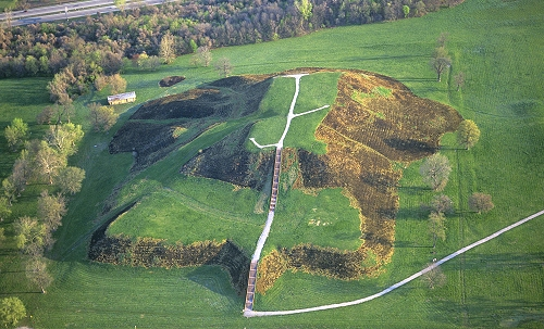 Image result for picture of cahokia mounds