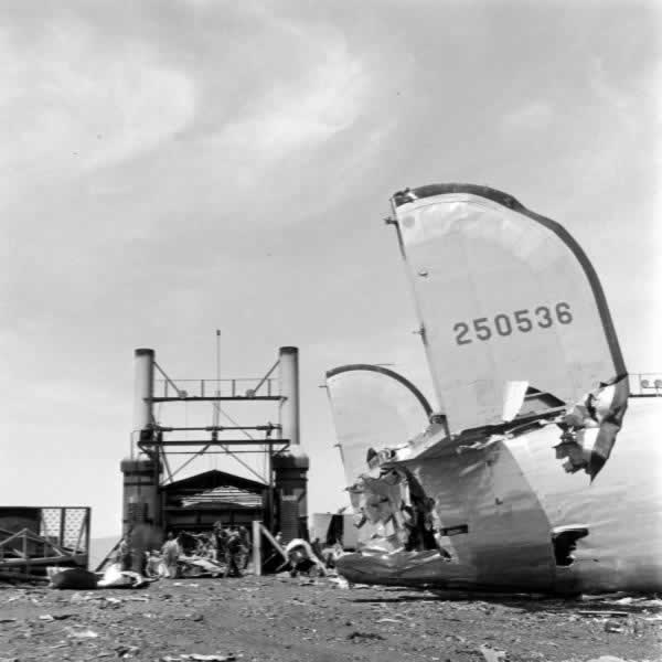B-24J-1-FO 42-50536 being scrapped at Kingman, AZ