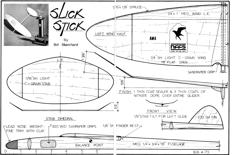 Slick Stick Plans October American Aircraft Modeler