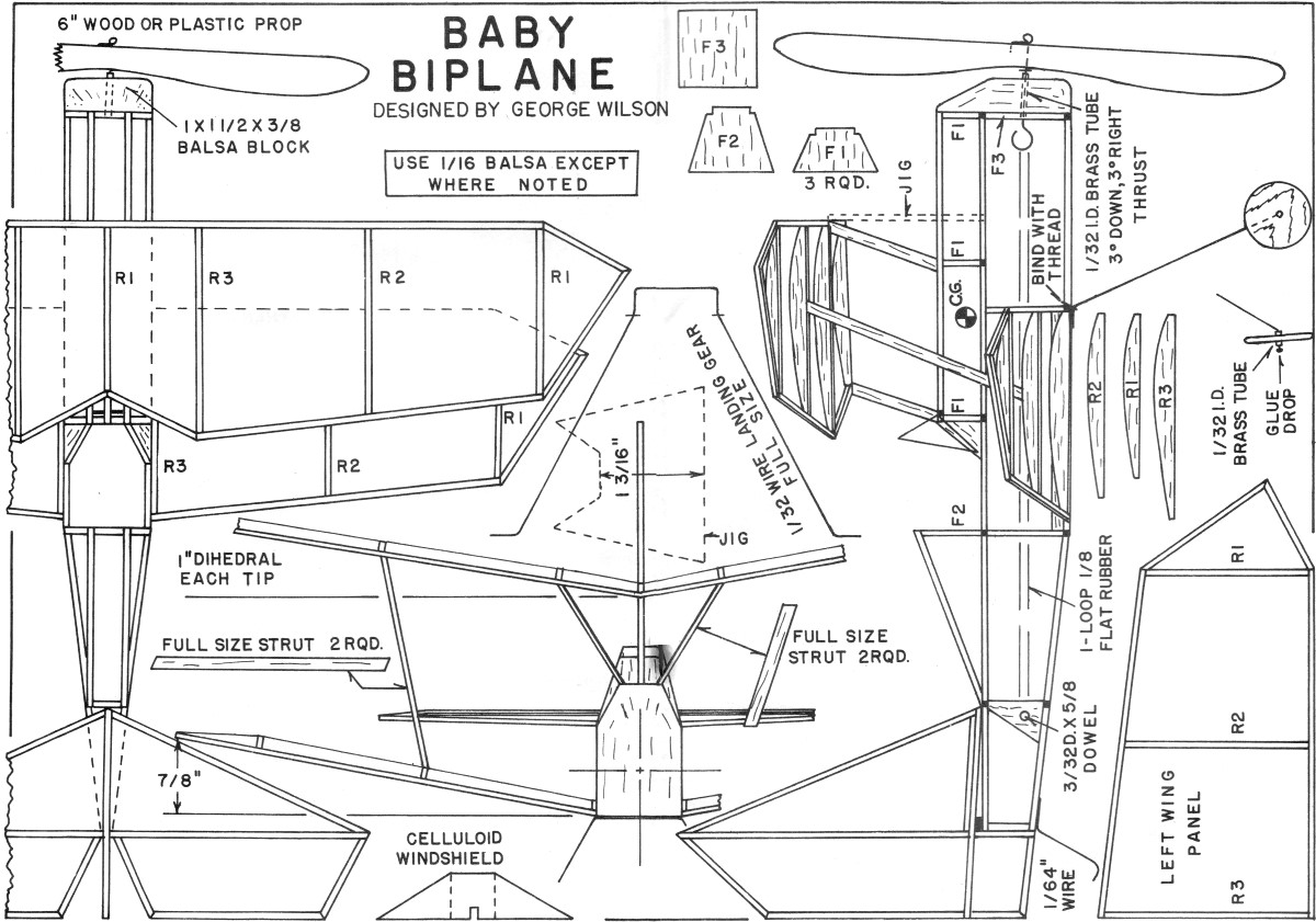 For The Tenderfoot Baby Biplane Article Amp Plans Oct