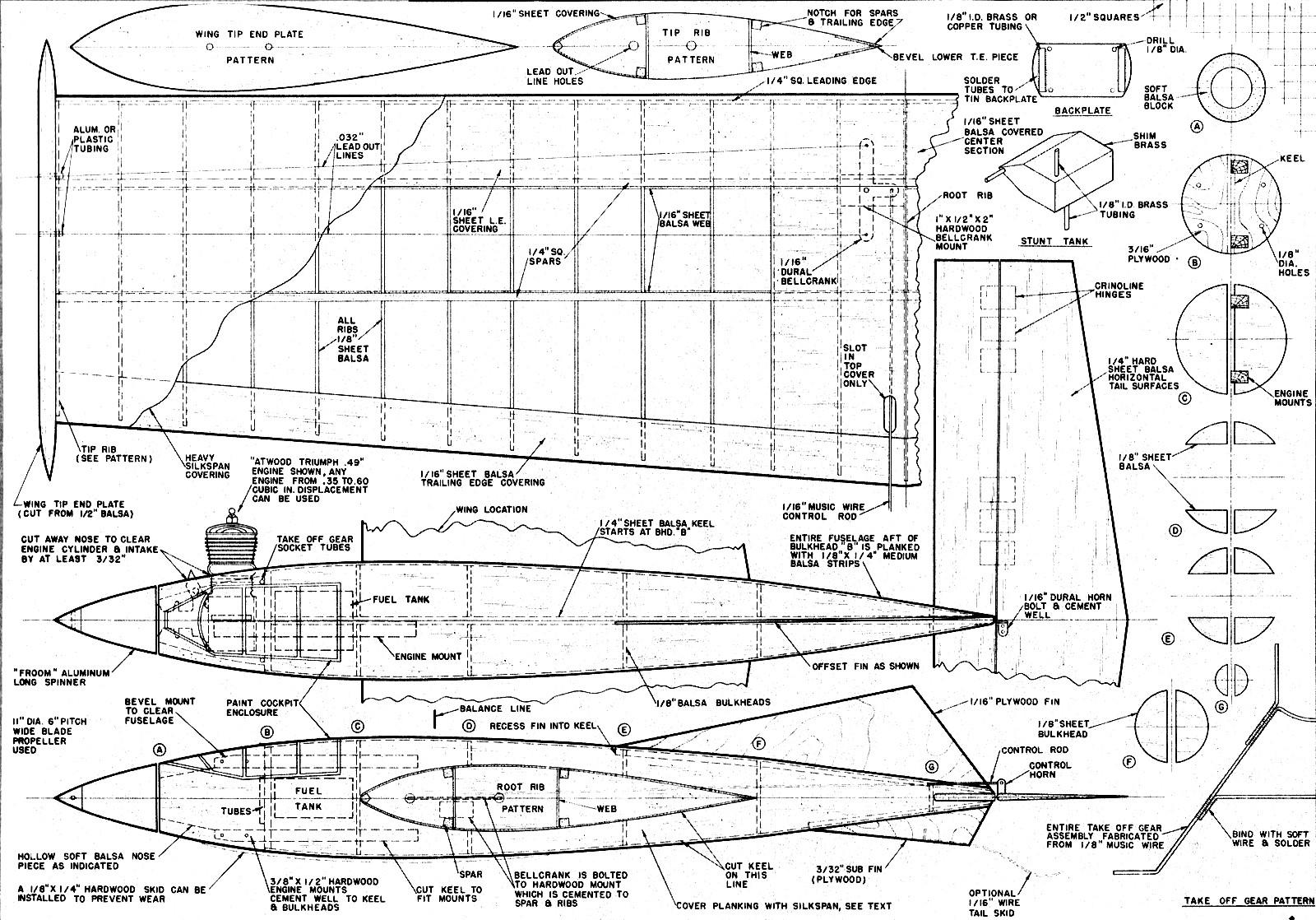 Stunt Rocket Article Amp Plans July Air Trails