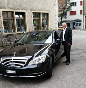 Taxi or Limo transfers to exhibition square / Messeplatz Basel.