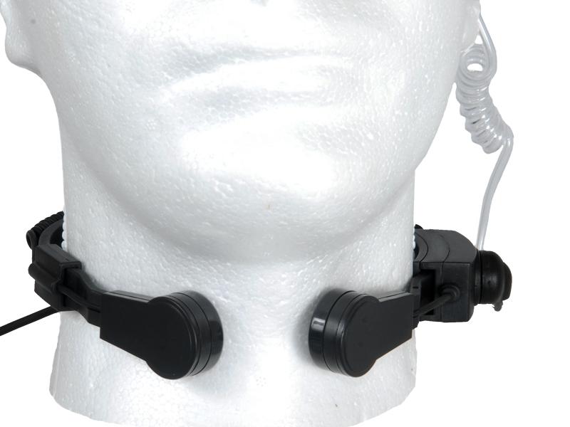 AC-209B Emerson Special Forces Throat Mic PTT for ICOM / MIDLAND Radio