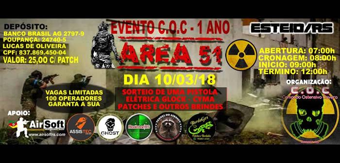 10  03  2018  u2013 evento 1 ano do c o c  u2013 area 51  u2013 esteio  rs