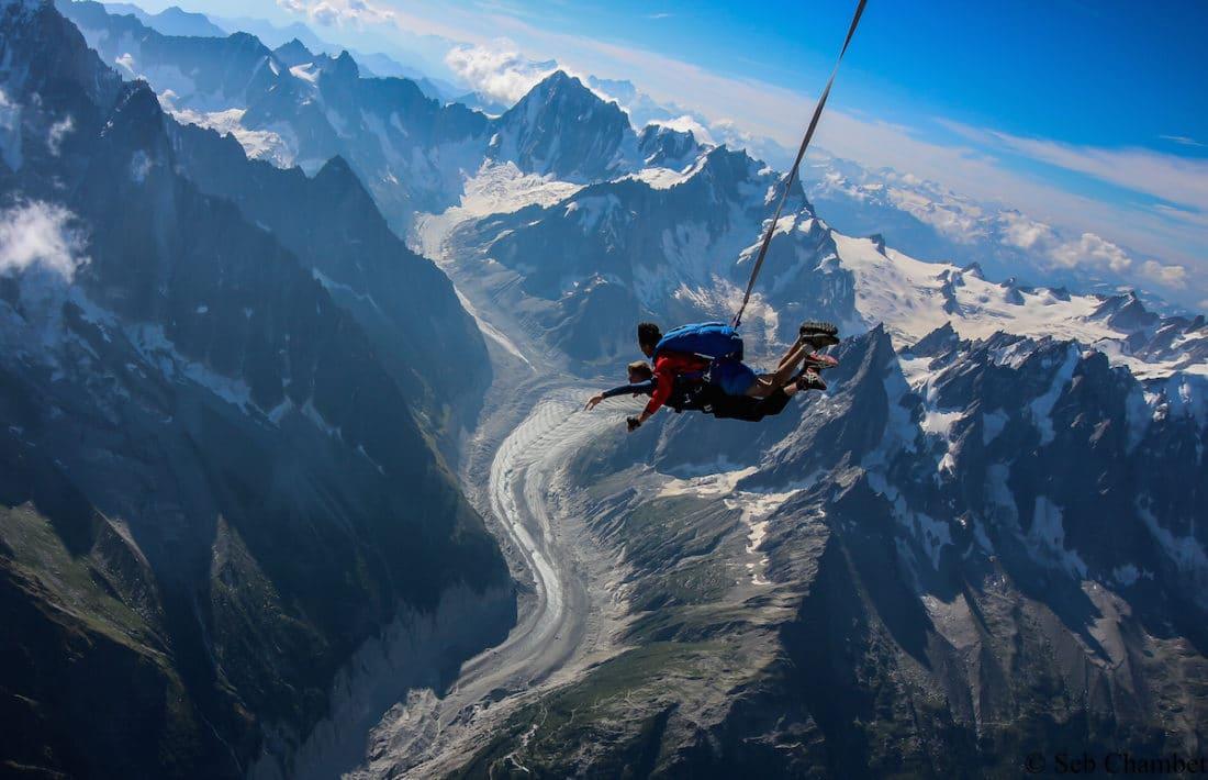 saut en parachute chamonix