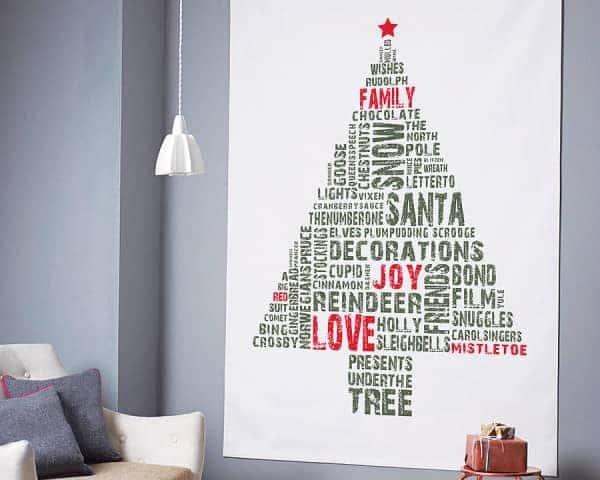 Noel ağacı-wallart-kırsal