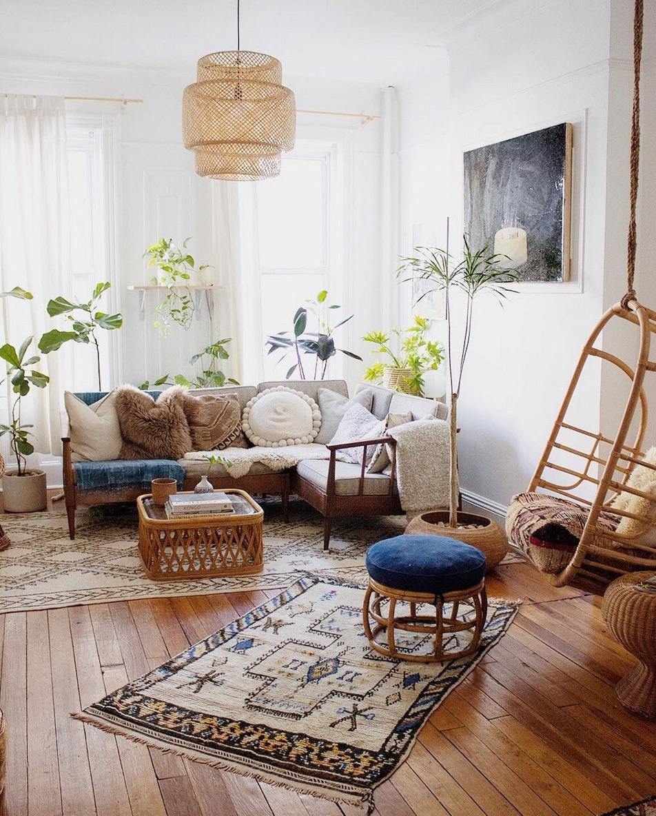 45+ Bohemian living room ideas - boho decor and style on Modern Boho Room  id=72336