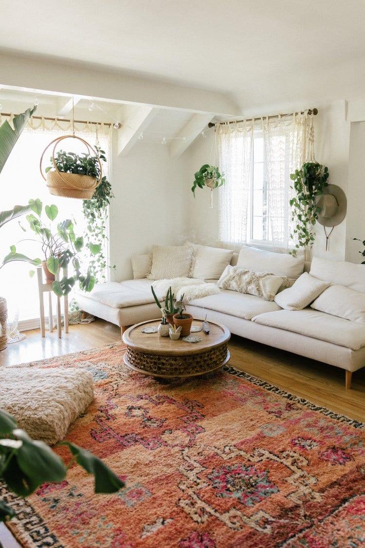 45+ Bohemian living room ideas - boho decor and style on Modern Boho Room  id=62921