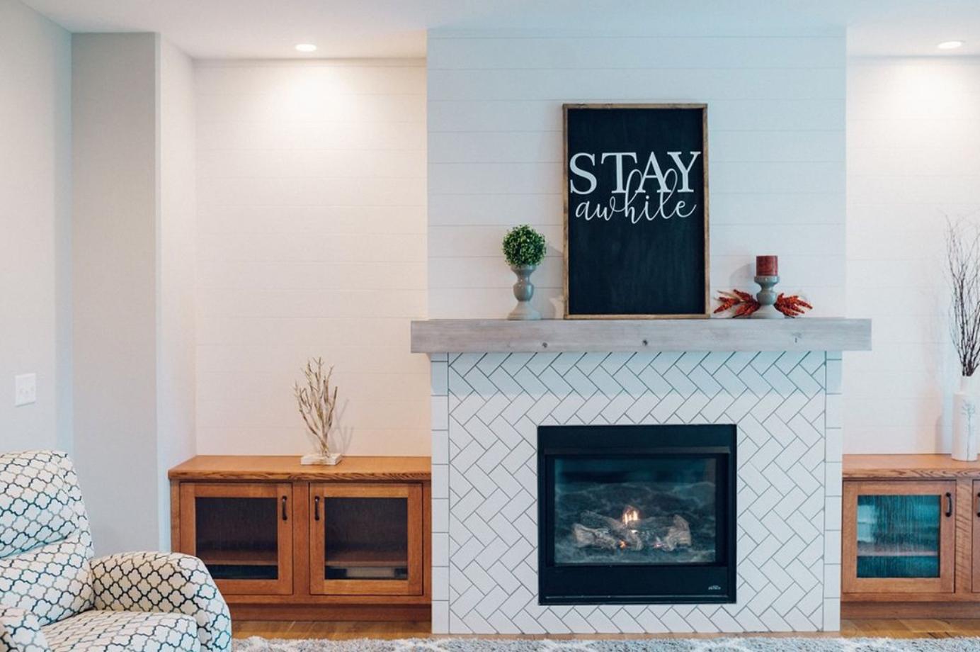35 fireplace tile ideas