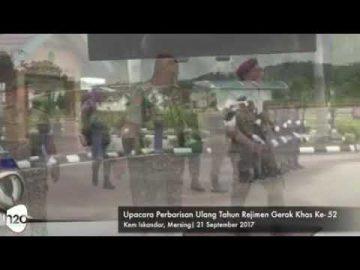 Upacara Perbarisan Hari Ulang Tahun Rejimen Gerak Khas ke-52 di Kem Iskandar, Johor