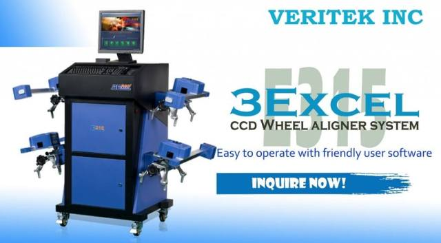 For sale the Most affordabel and reliable Wheel aligner machine, the 3Excel E315 CCD wheel aligner system