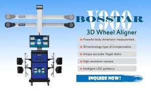 For sale the Most affordabel and reliable Wheel aligner machine, the Bosstar v900 3D wheel aligner system