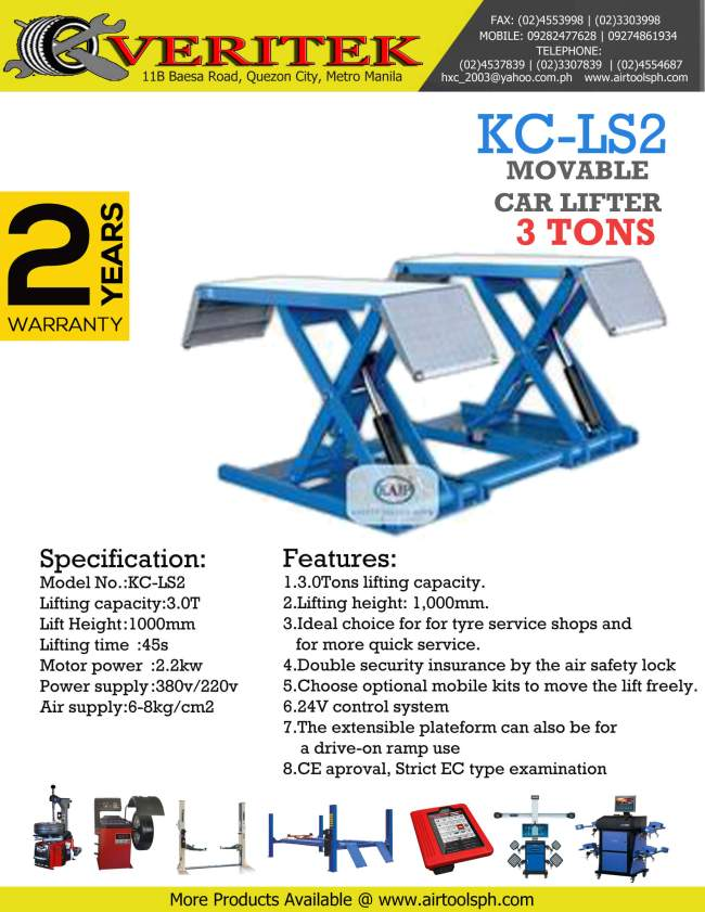 kc-ls2 mid rise car lifter for sale, movable