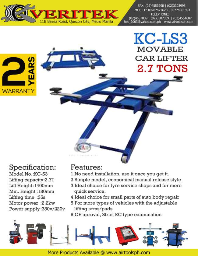 kc-ls3 mid rise car lifter for sale in philippines