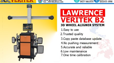 LAWRENCE VERITEK B2 3D WHEEL ALIGNER
