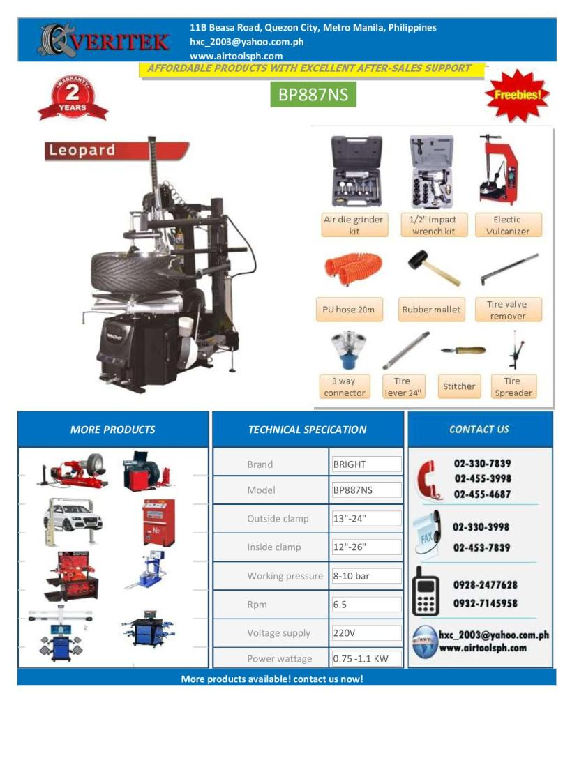 For sale leverless Automatic tire changer -Brightbp88