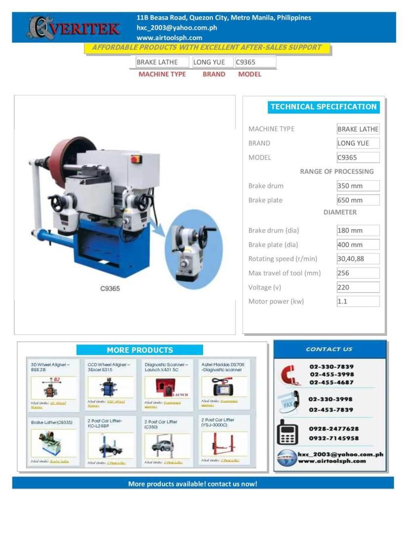 BRAKE LATHE-C9365-For Sale brake lathe machine in the philippines
