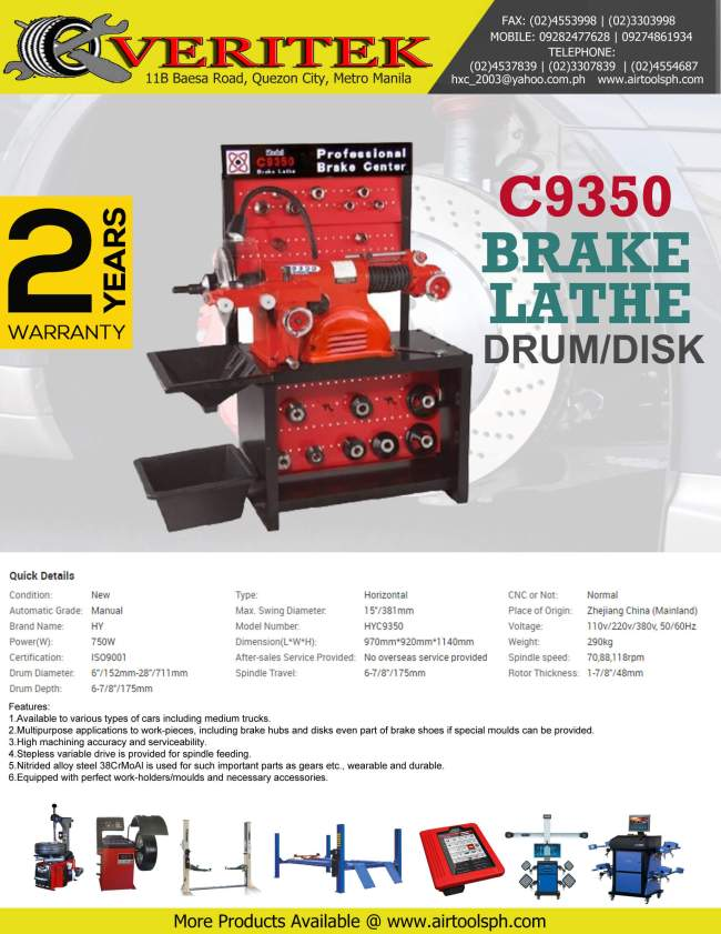 brake-lathe-c9350 for sale in the Philippines