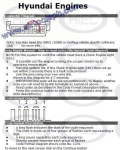 HYUNDAI 16 PINS manual diagnostic jumper settings, www