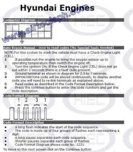 HYUNDAI2 PINS manual diagnostic jumper settings, www