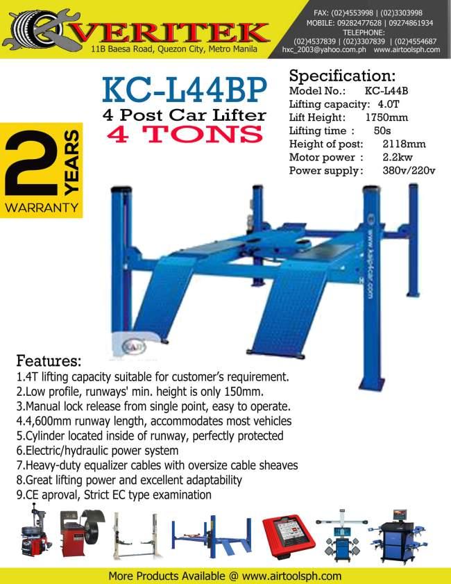 kc-l44bp-4-post for sale in cebu city