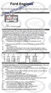 ford  manual diagnostic jumper settings, www