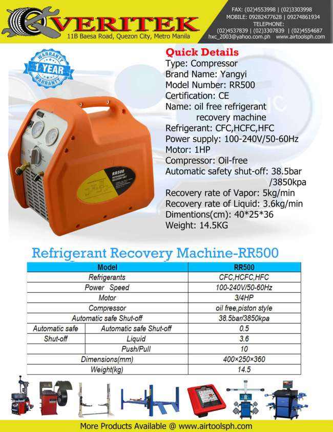 refrigerant-recovery-rr-500 for sale in Philippines