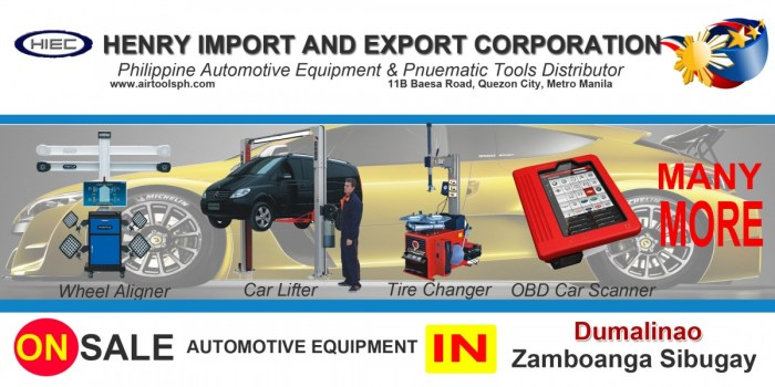 For sale Automotive Equipment in Dumalinao Zambonga Sibugay-Car lifter-tire changer-wheel aligner-scanner-engine-car